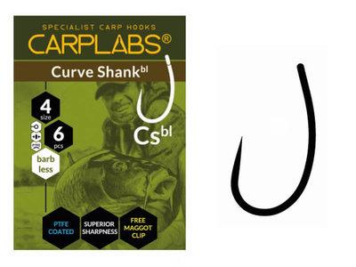 Karperhaken Carplabs Curve Shank Barbless 6 st.