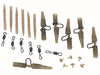 Camouflage Heavy Lead Clips set (6 st.)