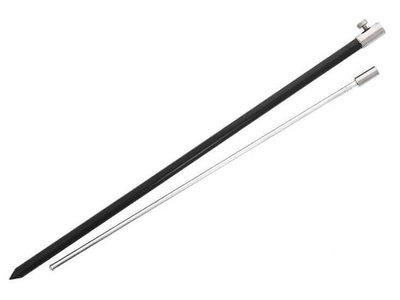 Aluminium Bankstick Zwart 50 - 90 cm