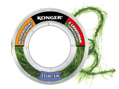 Leadcore Leader Camo Weed Donker 5 m.