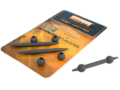 Tungsten Heli-Chod Rubber & beads set | Large Silt