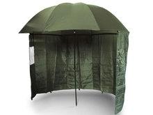 Visparaplu Groen + Aanritstent 1,80 m.